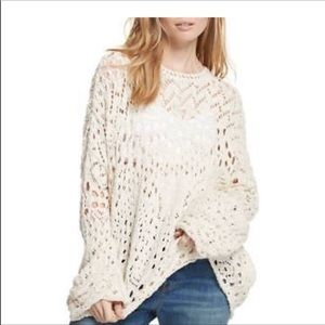 Free People Traveling Crochet Sweater